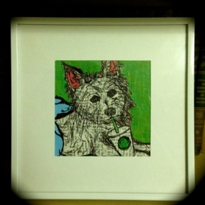 The Westie, framed.